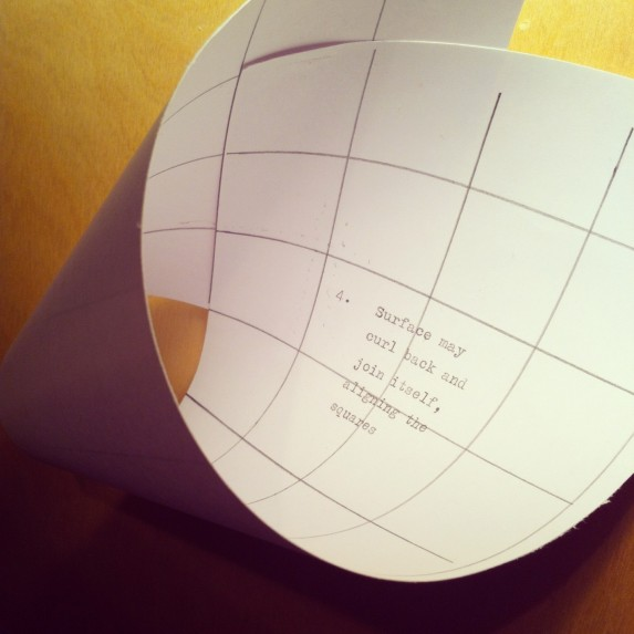 Rules for a new architectural geometry