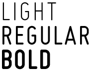 Light Regular Bold