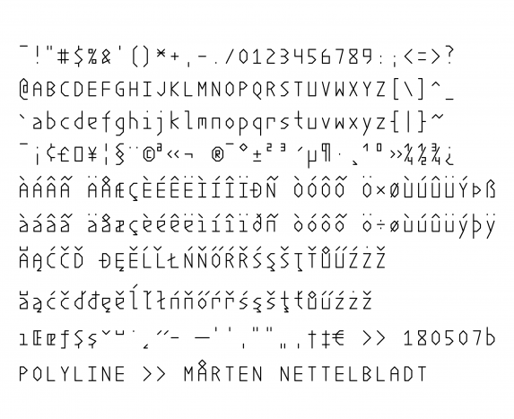 Polyline typeface