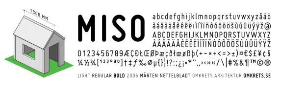 Miso typeface
